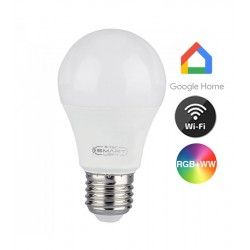 E27 LED V-Tac 11W Smart Home LED pære - Virker med Google Home, Alexa og smartphones, E27, A60