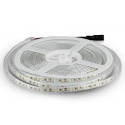 12V V-Tac 7,2W/m stænktæt LED strip 8mm bred - 5m, 120 LED pr. meter