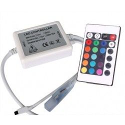 RGB controller with remote control - 230V, memory feature, infrared
