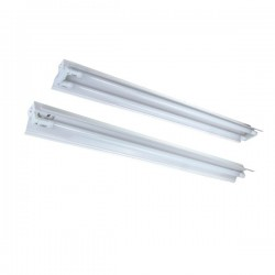 Alpha LED T8 fixture - 2x 120 cm tube, Open fixture