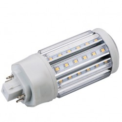 GX24Q LED bulb - 11w, 360 degrees, warm white, frosted glass