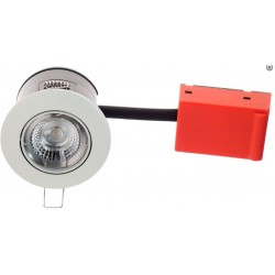 Daxtor Easy 2-Setup downlight - Frosted white, approved in insulation