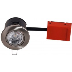 Daxtor Easy 2-Setup downlight - Satin nickel, approved in insulation