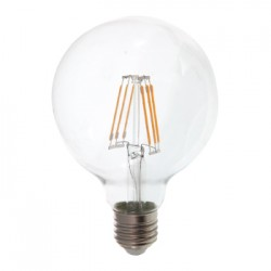 V-Tac 6W LED globe bulb - Ø9,5 cm, Filament, warm white, E27