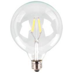 V-Tac 6W LED globe bulb - Filament, G125, warm white, E27