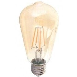 VT-1966 6W LED ST64 FILAMENT AMBER COVER BULB E27