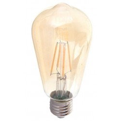 V-Tac 4w LED Filament bulb Extra Warm - Smoked glass, 2200k, ST64, E27
