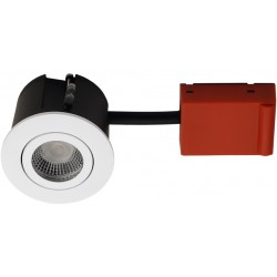 Daxtor Easy 2-Cmalege downlight - Frosted white, approved for insulation
