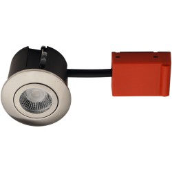 Daxtor Easy 2-Cmalege downlight - Satin nickel, approved for wetroom and insulation