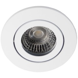 Daxtor Alu line downlight - Frosted white, for outdoors with GU10 connector block within secure enclosure