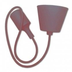 V-Tac Brown pendel with fabric cord - 230v, E27 silicone socket