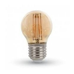 V-Tac 4W LED candle bulb - Filament, dimmable, warm white, E14