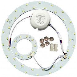 LED plate 23w - Ø25,1 cm, To replace circular tube and compact tube