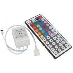 RGB controller with remote control - 12v, memory feature, infrared, 90w