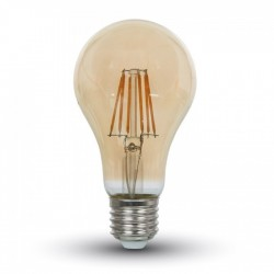 V-Tac LED Bulb - 4W E27 Filament Amber Cover Warm White