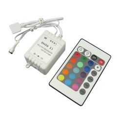 RGB controller with remote control - 12v, infrared, 60w