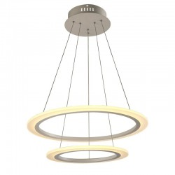 "V-Tac 70W Soft Light Chandelier 2 Rings Ñ""60 Warm White"