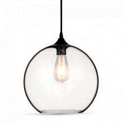 V-Tac Pendant Light Globe Glass Transparent Ф300mm