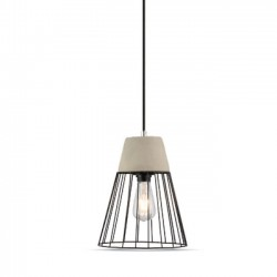 V-Tac Concrete Pendant Light + Mesh Ф250mm