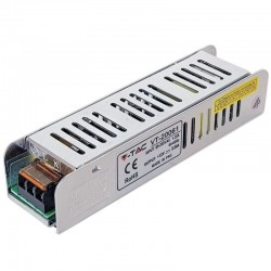 V-Tac LED Power Supply SLIM - 60W 12V 5A Metal