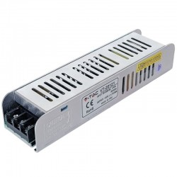 V-Tac LED Power Supply SLIM - 120W 12V 10A Metal