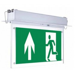 VT-522 2W RECESSED FIXED EMERGENCY EXIT LIGHT(12 HOURS CHARGING)