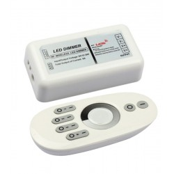 Wireless dimmer with remote control - RF wireless, 12v (96w), 24v (192w)