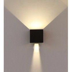 VT-759 6W-WALL LAMP WITH BRIDGELUX CHIP BLACK SQUARE