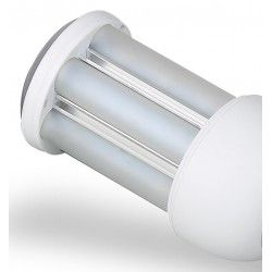 GX24D LED bulb - 9W, 360 degrees, warm white, frosted glass