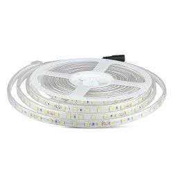 24V V-Tac 9W stænktæt LED strip - 5m, IP65, 24V, 60 LED, 9W pr. meter!