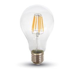 E27 LED Restsalg: V-Tac 10W LED pære - Kultråd, A67, E27