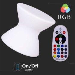Havelamper V-Tac RGB LED stol - Genopladelig, med fjernbetjening, 40x40x36 cm