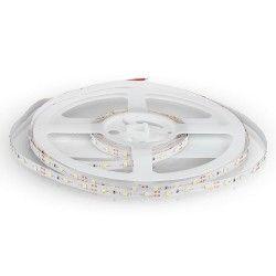 12V V-Tac 3,6W/m LED strip - 5m, 60 LED pr. meter, Farvet lys