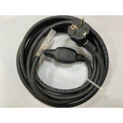 230V Stik til 230V LED strip (Type Q), IP67 vandtæt - Inkl. endeprop, 1m, 230V