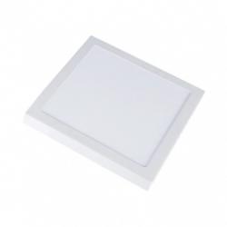 Loftslamper V-Tac 18W LED loftslampe - 19 x 19cm, Højde: 2,4cm, hvid kant, inkl. lyskilde