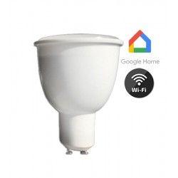 Smart Home Enheder V-Tac 4,5W Smart Home LED spot - Virker med Google Home, Alexa og smartphones, 230V, GU10