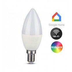 Smart Home Enheder V-Tac 5W Smart Home LED pære - Virker med Google Home, Alexa og smartphones, E14