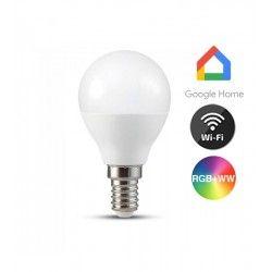 Smart Home Enheder V-Tac 5W Smart Home LED pære - Virker med Google Home, Alexa og smartphones, P45, E14