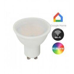 Smart Home Enheder V-Tac 5W Smart Home LED pære - Virker med Google Home, Alexa og smartphones, GU10 Spot
