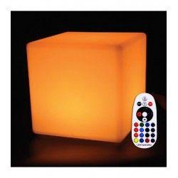 Havelamper V-Tac RGB LED firkant - Genopladelig, med fjernbetjening, 40x40 cm