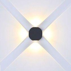 Lamper V-Tac 4W LED sort væglampe - Rund, IP65 udendørs, 230V, inkl. lyskilde