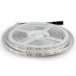 12V V-Tac 7,2W/m stænktæt LED strip - 5m, 120 LED pr. meter