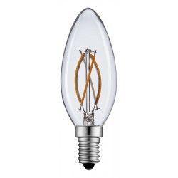 E14 LED 2W LED kertepære - Kultråd, varm hvid, E14
