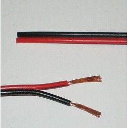 12V 12-24V ledning rød/sort - 2x0,5mm², metervare, min. 5 meter