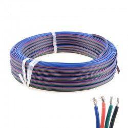 12V RGB 12-24V RGB kabel - 4 x 0,5 mm², metervare, min. 5 meter