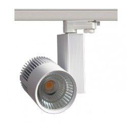 Skinnespots LEDlife hvid skinnespot 31W - Philips COB, Flicker free, RA90, 3-faset