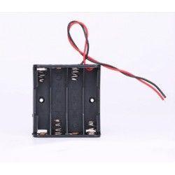 Diverse Batteri holder 4 x AA - 6V