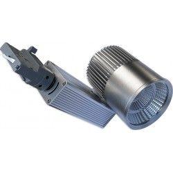 Skinnespots LEDlife grå skinnespot 31W - Philips COB, Flicker free, RA90, 3-faset