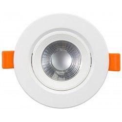Indbygningsspots 7W LED indbygningsspot - Hul: Ø7,5 cm, Mål: Ø9 cm, indbygget driver, 230V