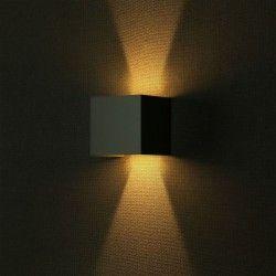 Udendørs væglamper V-Tac 12W LED grå væglampe - Firkantet, justerbar spredning, IP65 udendørs, 230V, inkl. lyskilde
